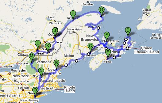NY - Nova Scotia - Montreal