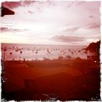 Vista del hotel de copacabana al lago titicaca