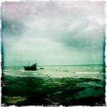 El barco encallado