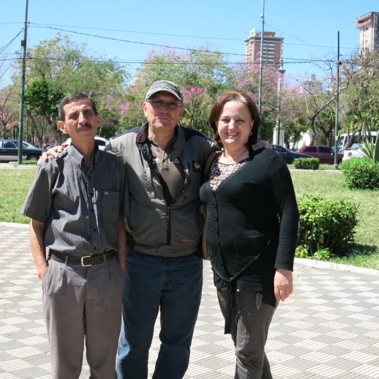 Con Hugo Montoya y Adriana Bueno