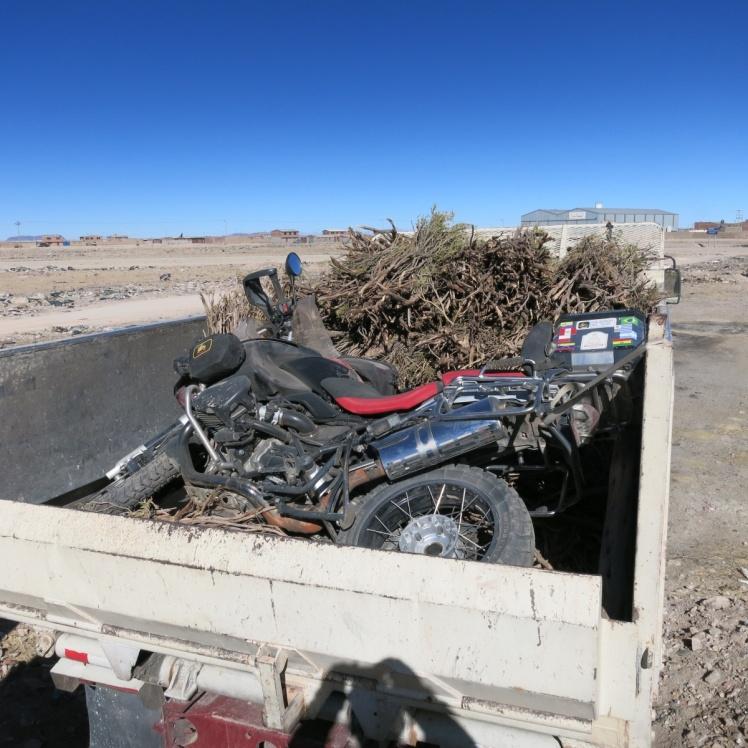 Así amaneció la moto