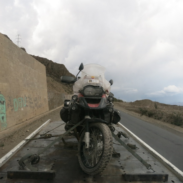 En solitario entrando a La Paz