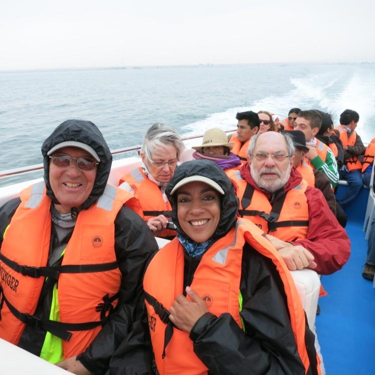 En el bote camino a Ballestas
