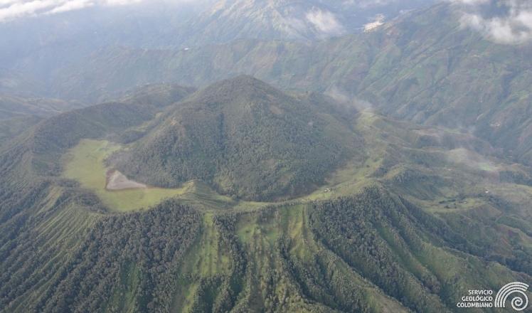 Machin - Vista aérea. Foto del Servicio Geológico Colombiano