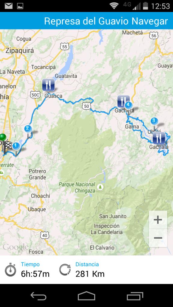 Mapa del recorrido