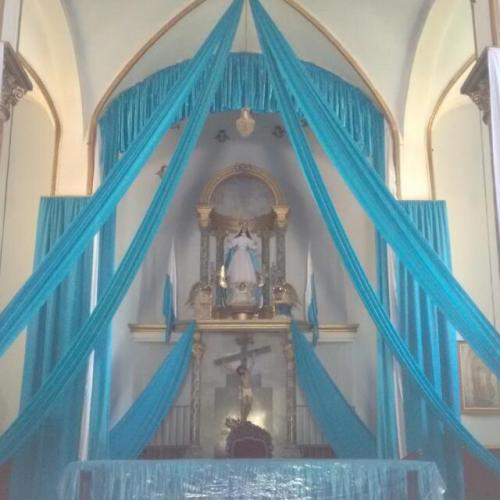 Virgen de La Palma en epoca de procesion