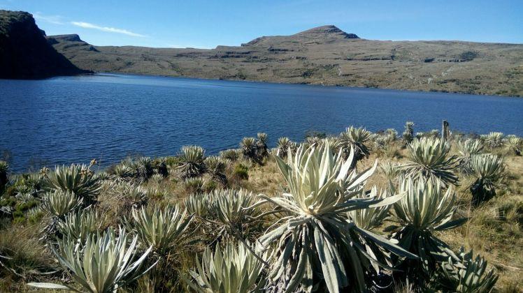 Laguna natural de Los Tunjos